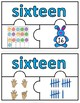 Number Puzzles 1 - 20 - Easter Theme - 3 Puzzle Pieces