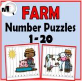 Farm Math - Number Puzzles 1-20