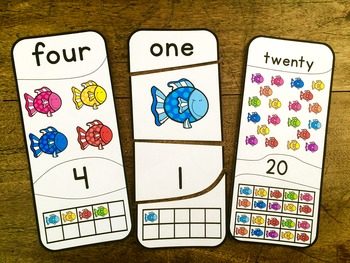 Number Puzzles 1 - 20 Fish