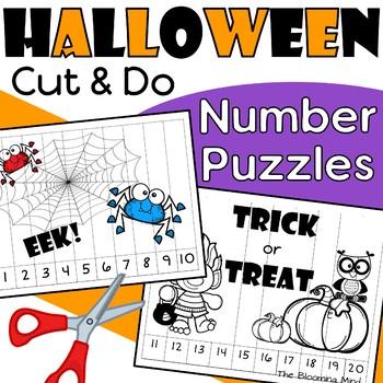 Halloween Number Puzzles