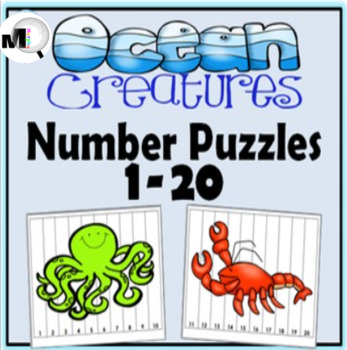 Number Puzzles ~ Numbers 1-20 ~ Ocean Theme