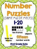 Simple Number Puzzles (1 to 20)