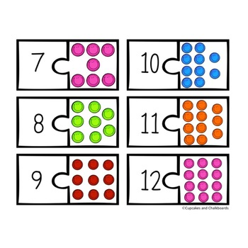 Number Recognition Puzzles 1-20:  Smiley Faces