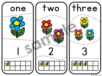 Number Puzzles 1 - 20 Spring Flowers
