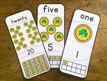 Number Puzzles 1 - 20 St Patrick's  Day