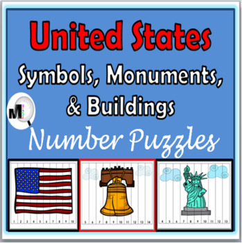 Number Puzzles 1-20 - U S Monuments, Symbols & Buildings