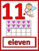 Number Anchor Charts 0 to 20 with Ten Frames - Valentines