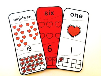 Number Puzzles 1 - 20 Valentine's  Day