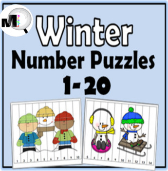 Number Puzzles 1-20 - Winter Math