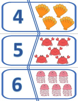 Number Puzzles 1 to 10 - Ocean /  Under the Sea