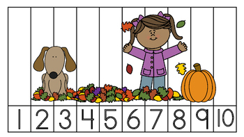 Number Puzzles 1 to 10! Create your own or fall and Halloween theme puzzles!