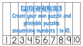Number Puzzles 1 to 10! Create your own or fall and Hallow