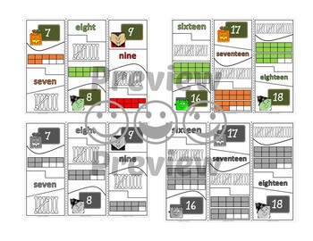 Number Puzzles 1 to 20 - Halloween Theme - 4 Pieces Per Puzzle