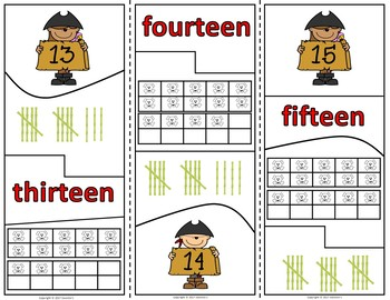 Number Puzzles 1 to 20 - Pirate Theme