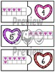 Number Puzzles 1 to 20 - Valentine Theme - 2 Pieces Per Puzzle