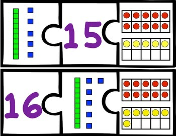 Number Puzzles 11-20 {4 Different Sets!!! Aligns with Common Core!}