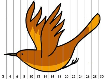 Bird Number Order/Skip Counting Puzzles