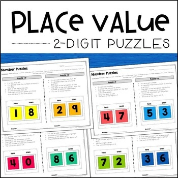Place Value Puzzles (2-digit) - Enrichment Activities