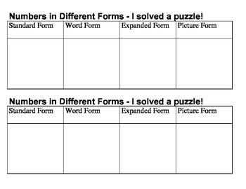 Number Puzzles (2.NBT.3)