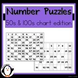 Number Puzzles - 50s & 100s Chart Edition