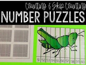 Number Puzzles: A Counting & Skip Counting Activity (Insects Edition)