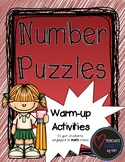 Number Puzzles - A Warm-up Math Activity