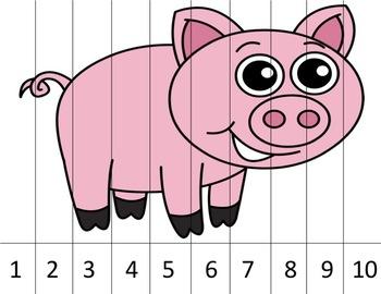 Number Puzzles - Animals