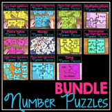 Number Puzzles for Second Grade BUNDLE
