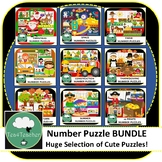 Number Puzzles BUNDLE - 14 Sets Number Puzzles Kindy Presc