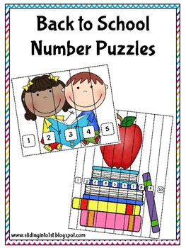 Number Puzzles-Back to School