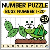 Number Puzzles : Bugs and Insects Math Activities