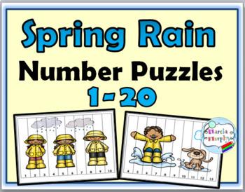 Number Puzzles Bundle - Spring Math, Summer Math, Autumn Math, Winter Math