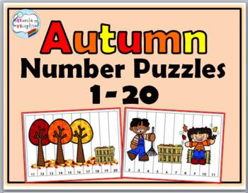 Number Puzzles 1-20 Bundle - Spring Math, Summer Math, Autumn Math, Winter Math