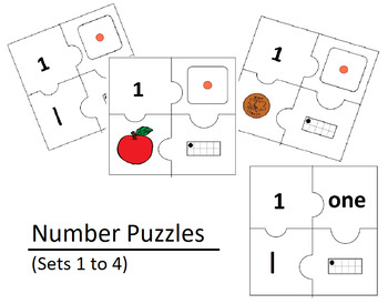 Number Puzzles Bundle (Sets 1 to 4)