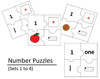 Number Puzzles Bundle (Sets 1 to 4)