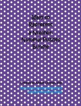 Number Puzzles Bundle: Ways to Represent a Number
