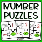 Number Puzzles Center and Ten Frames Mat