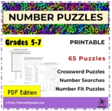 Number Puzzles Collection - 65 UNIQUE Number Puzzles - 6-digits