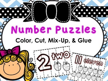 Number Puzzles (Color, Cut, & Glue)