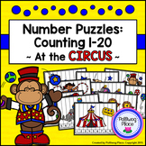 Number Puzzles: Counting 1-20 - At the Circus