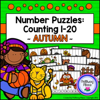 Number Puzzles: Counting 1-20 - Autumn