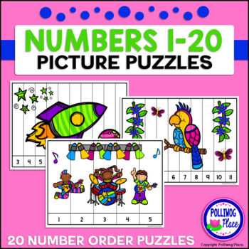 Number Puzzles: Counting 1-20 - Variety Set 1
