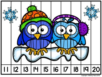 Number Puzzles: Counting 1-20 - Winter