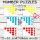 Number Puzzles Counting Shapes (1-10)