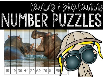 Number Puzzles: Counting & Skip Counting Activities (Anima