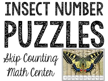 Number Puzzles: Counting & Skip Counting Activities (Insec