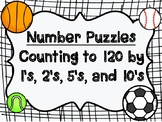 Number Puzzles: Counting to 120 by 1's, 2's, 5's, and 10's