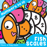 Number Puzzles - Fish Scales - Numbers 1 to 10