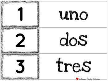 Number Puzzles, Flash Cards in English and Spanish, Dual language