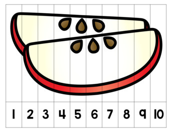 Food Puzzle Set - Skip Counting